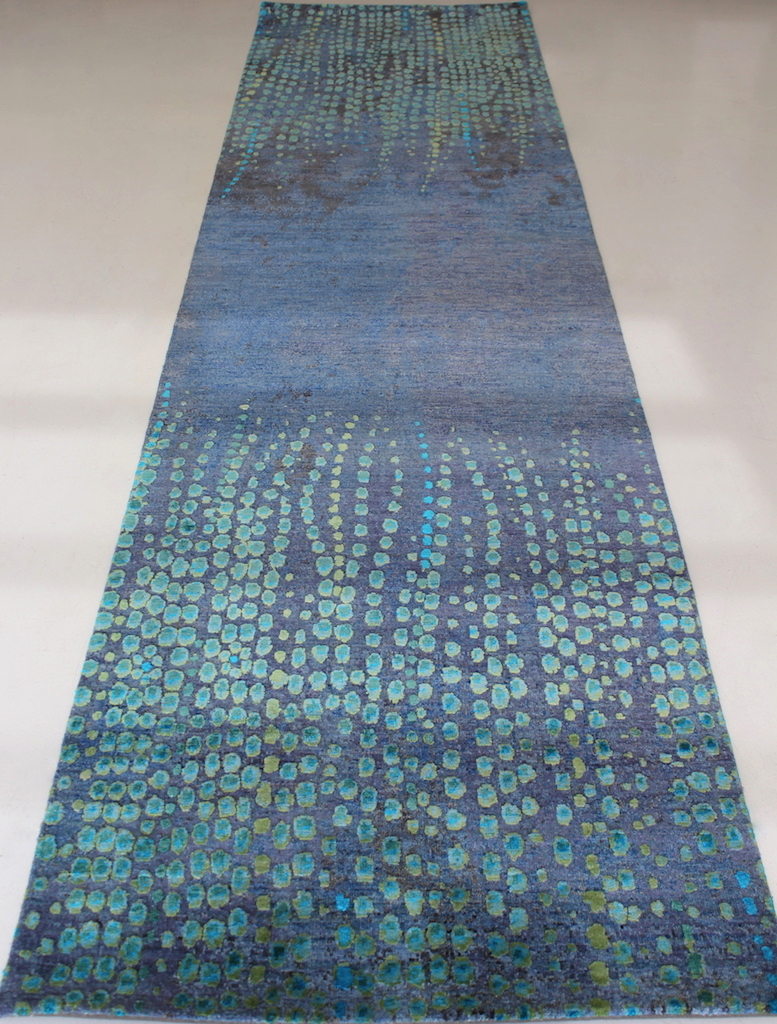 Gorgeous Sea Tones Take Over In The Hand Knotted Modi Blue Green Runner Sized At 910mm By 3700mm We Don T Usually Hold Stock Of Runners So Get Quick To