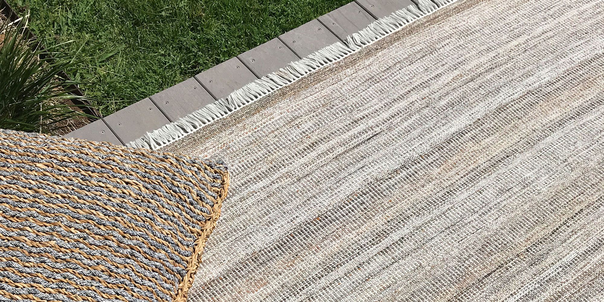 The Colour options of Summer - Part 1 Coolness of Outdoor/Indoor Rugs