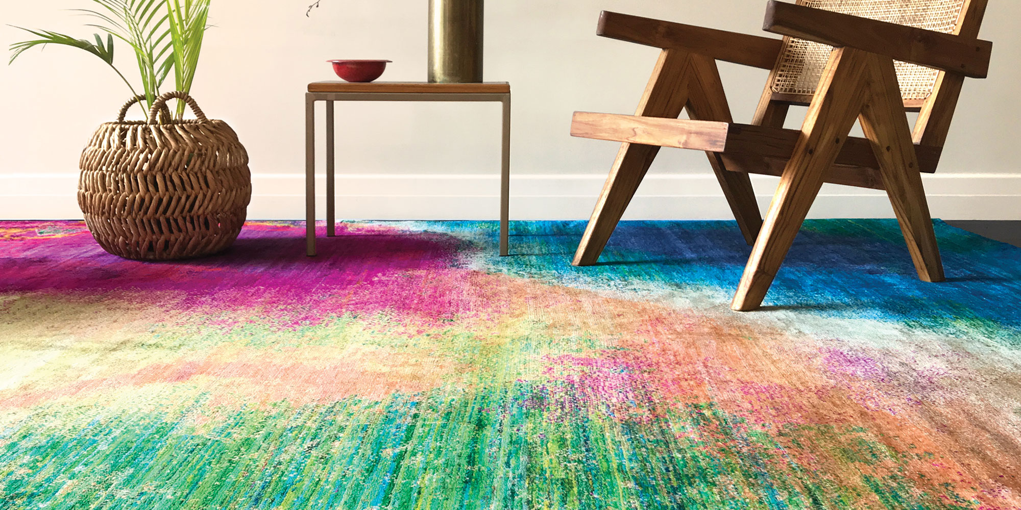 The Colour options of Summer - Part 2 Textural and Cool - Green & Blue Rugs