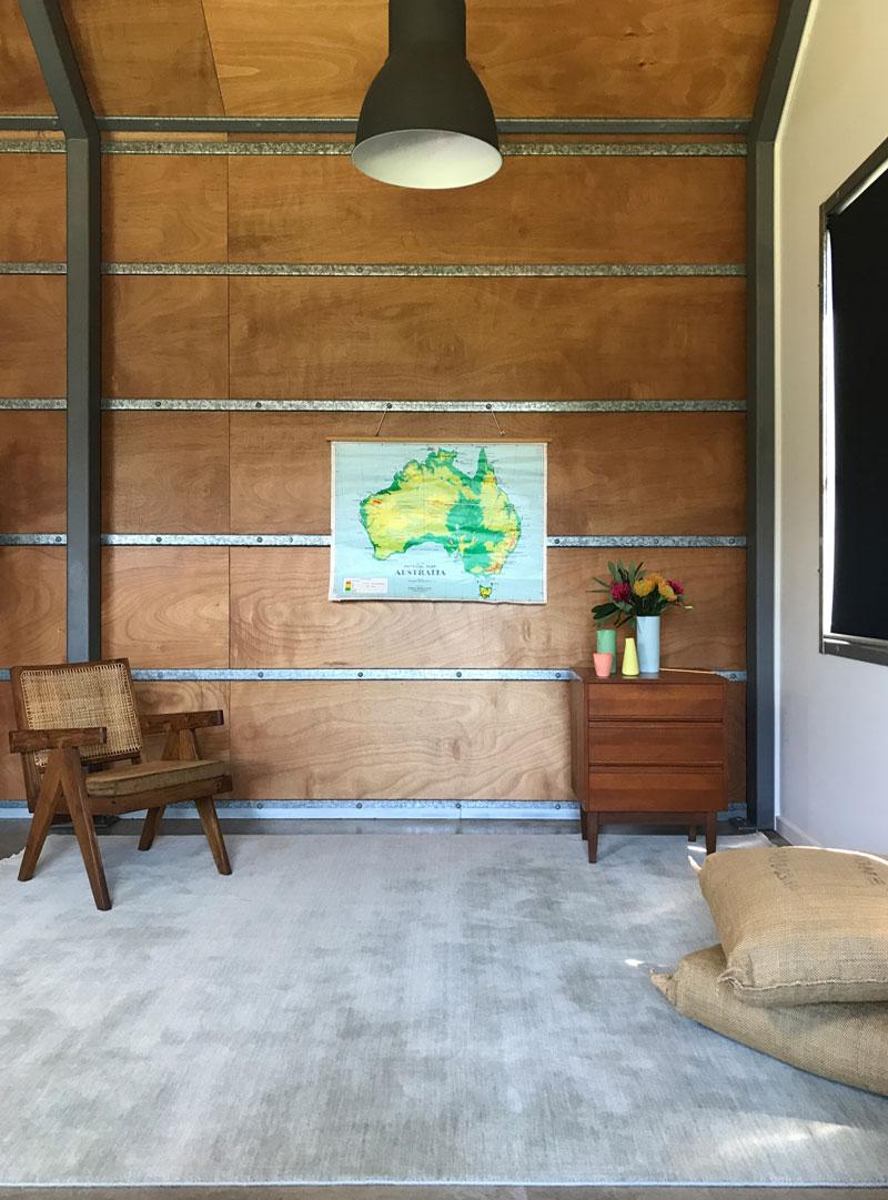 Subtle sea tone green ombre rug