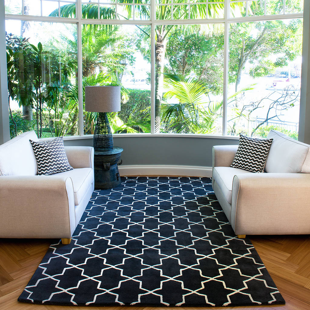 Decorating With Charcoal And Black Area Rugs